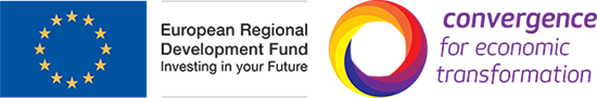 European Regional Development Fund and Convergence logos