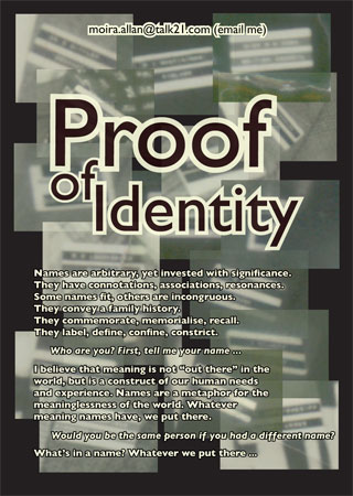 Proof of Identity - work by Moira Allan
