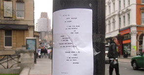Work by Alan Reed - city poem.