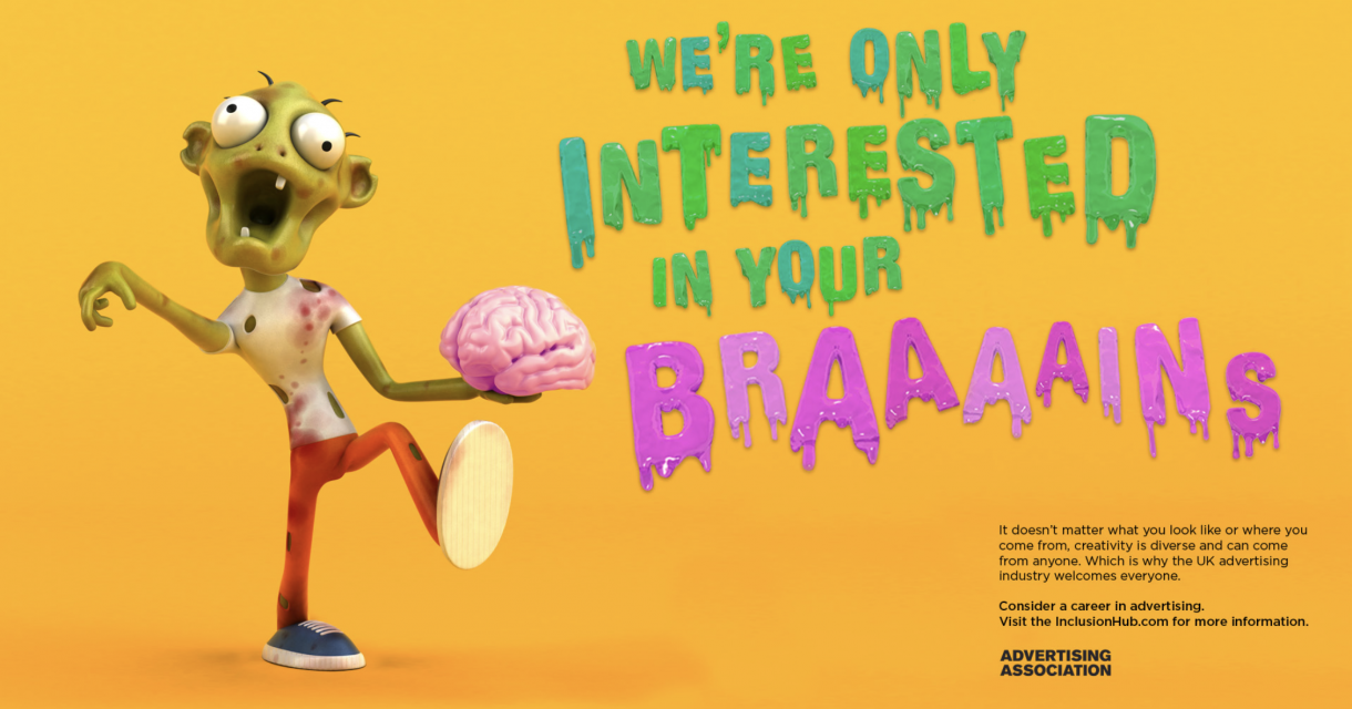 Screenshot of advert