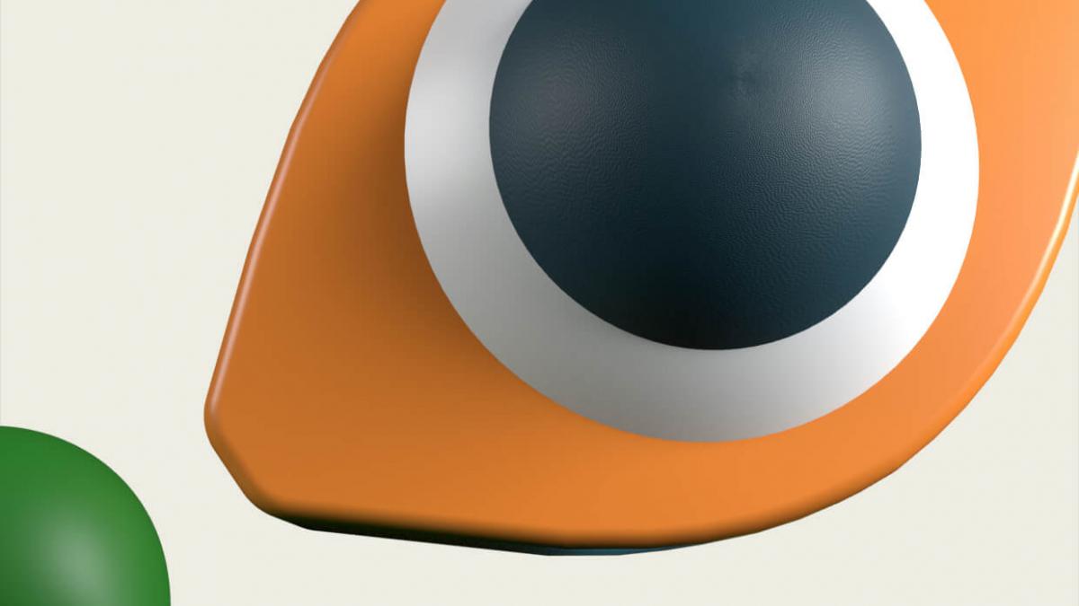 Digital shapes on an eye and circles