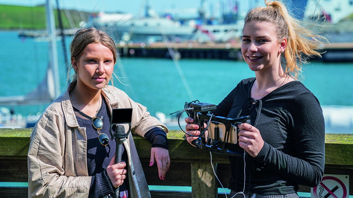 Sports Journalism Students at Falmouth Harbour