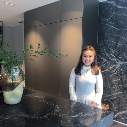 Interior design student Fiona Poon