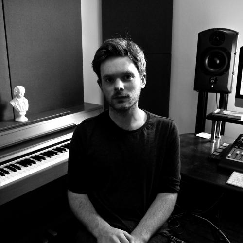 Graduate, Joe Donohoe, in the music studio