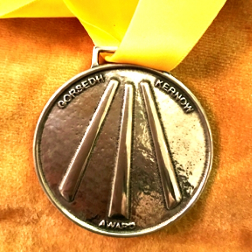 Image of the Kernon Award 2020 medal