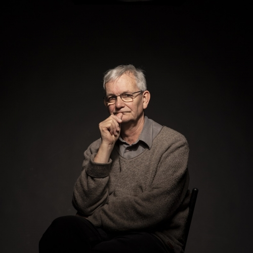 Photographer Martin Parr in the studio