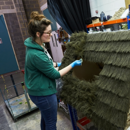 Animation & Visual Effects graduate Orla McElroy in the studio