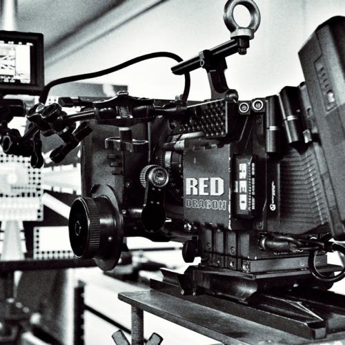 Camera equipment black and white