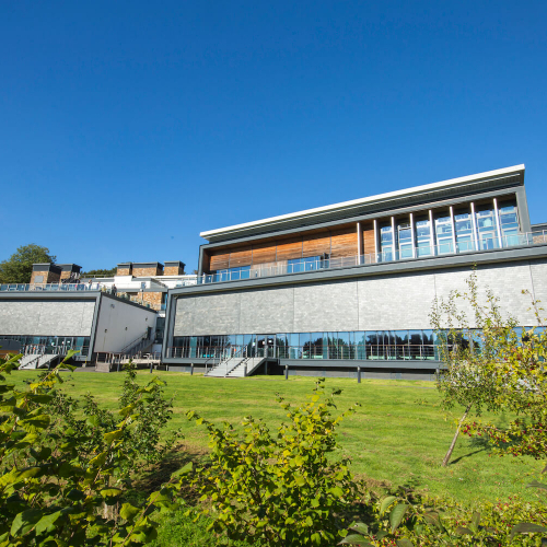 Exterior of the AMATA building on Penryn Campus