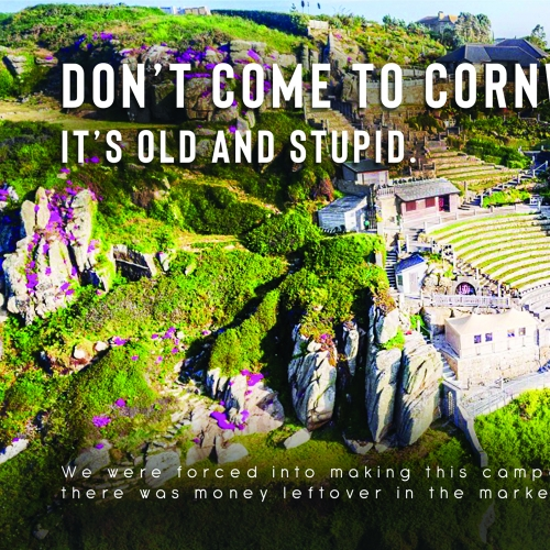 Creative advertising student work for Visit Cornwall