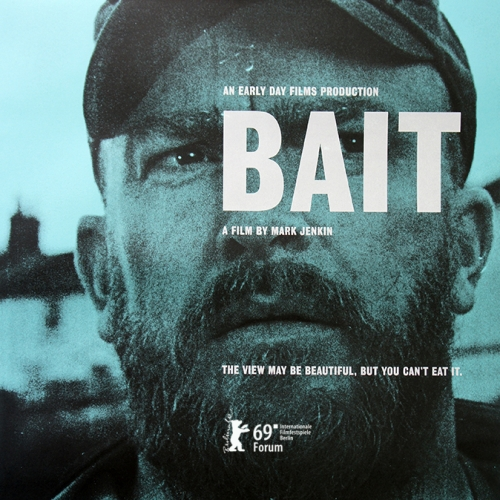 Man on poster for film, BAIT
