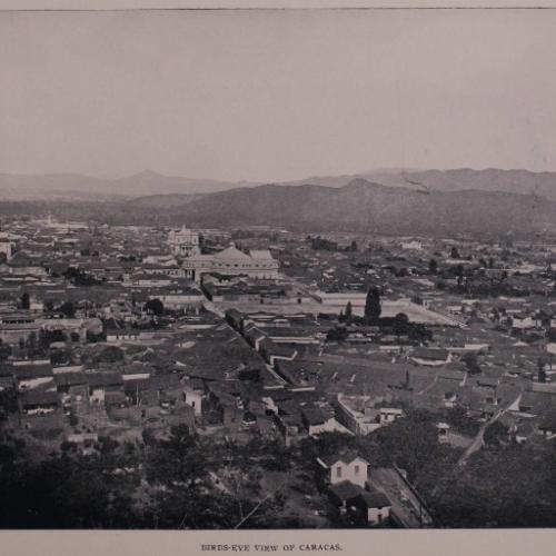 Birds Eye View Of Caracas In The Panphlet By Arturo Rivera 1897