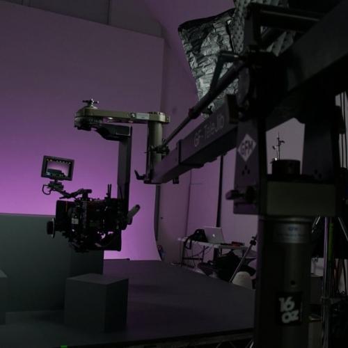 Camera equipment in a studio