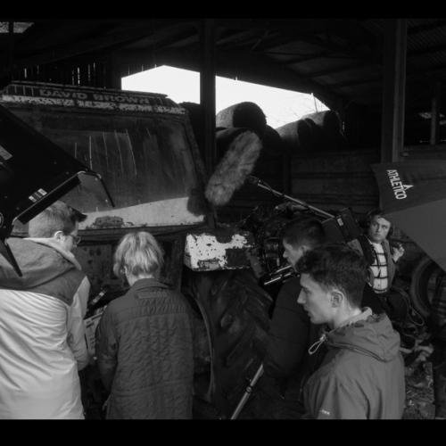 film crew on set
