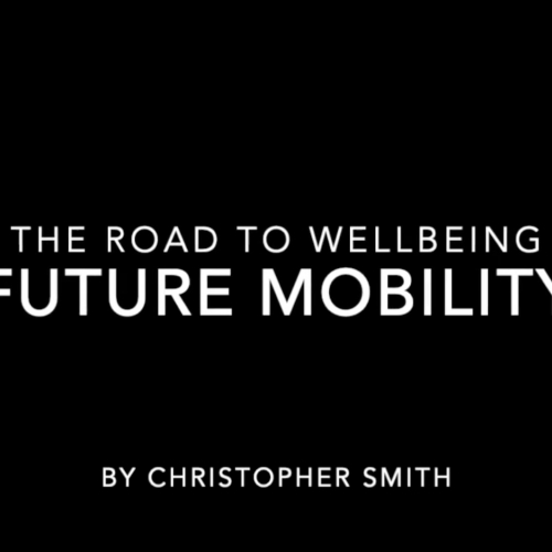 The Road to Wellbeing Future Mobility title slide