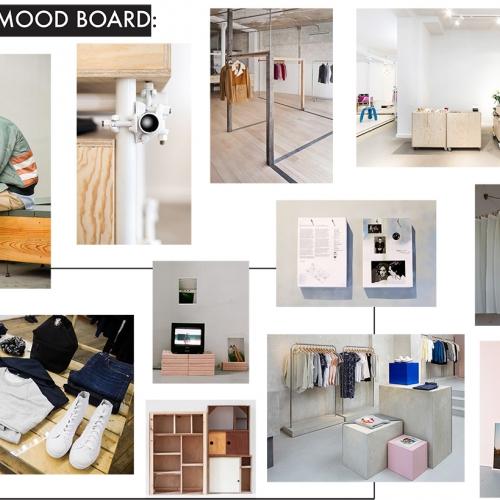 Store concept mood board.