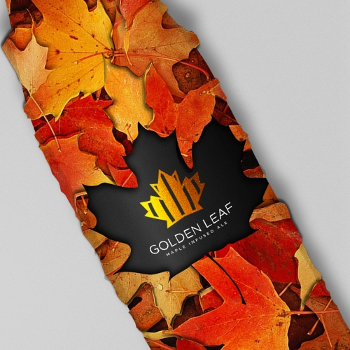 Packaging with autumnal leaves.