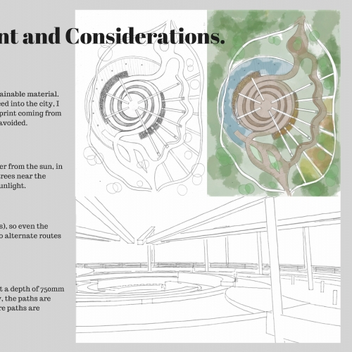 Presentation slide with drawings