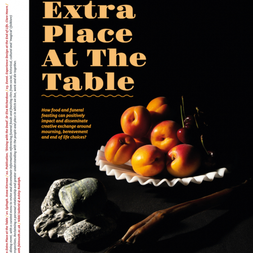 Poster image of a bowl of peaches with the title An Extra place at the table