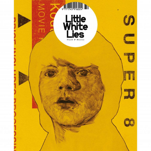 Magazine cover, illustration of boy on yellow background.