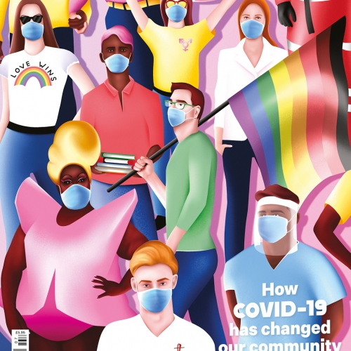 Gay Times Cover by illustration graduate Jake Hawkins