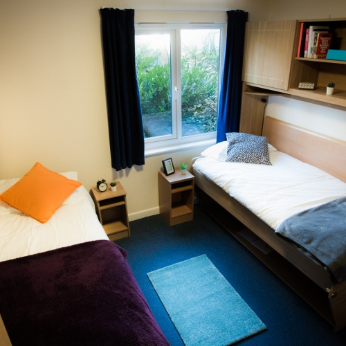 Twin room at Glasney Student Village