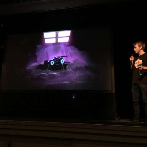 Games Expo student presenting game