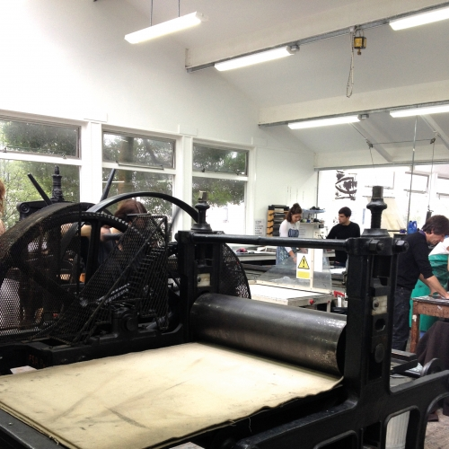 Printing press in the printing facilities