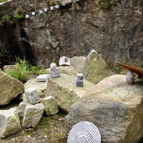 Granite blocks in a quarry