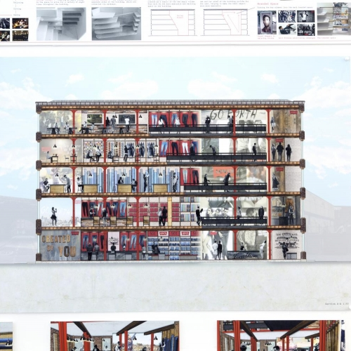 Design for a multi storey jeans store for Levis.