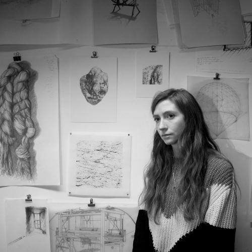 Aimee Labourne working in her studio