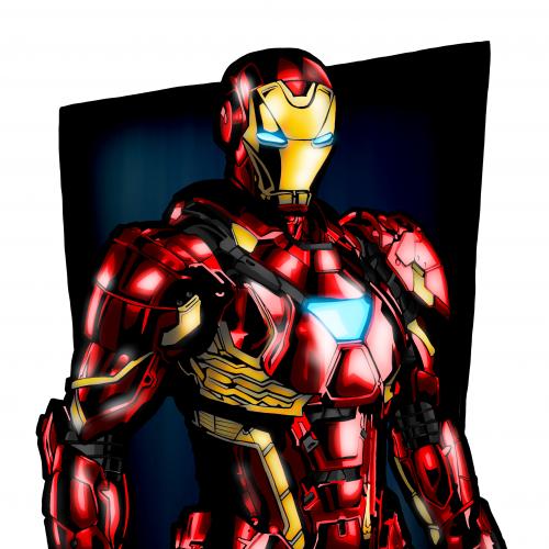 Ironman cartoon illustration