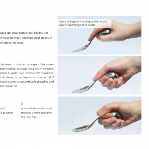 Guide to using specially designed cutlery set