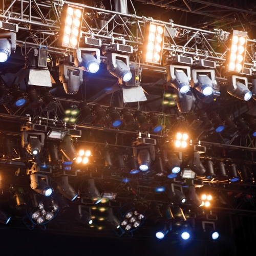 A complex lighting rig.