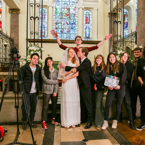 cast and crew of graduate film Tangled By Katie Lai