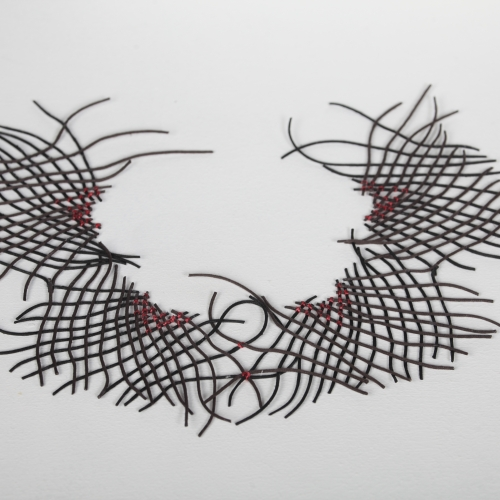 A lattice threaded neck piece.