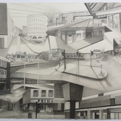 Who Lives, Who Dies, Who Tells Your Story. A pencil drawing by artist and Falmouth graduate Caroline Blythe