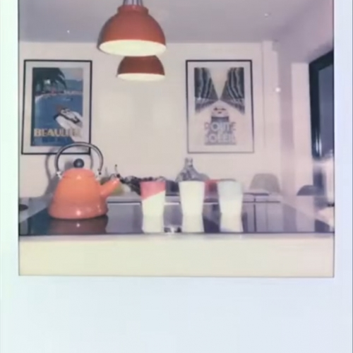 Photograph of a kettle and mugs
