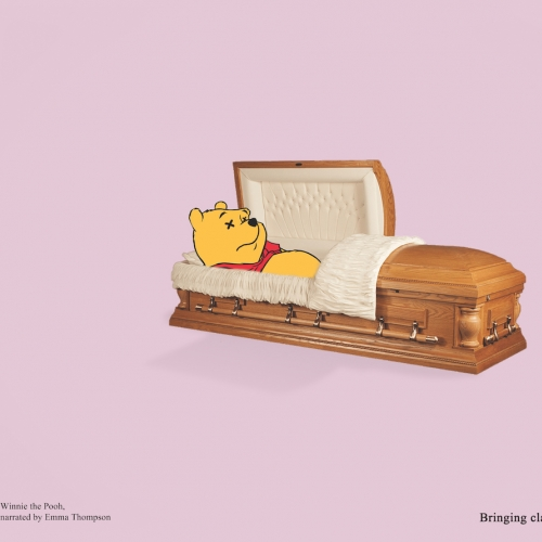 Winnie the Poo in a coffin