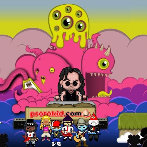 Still of an animated game with a pink octopus