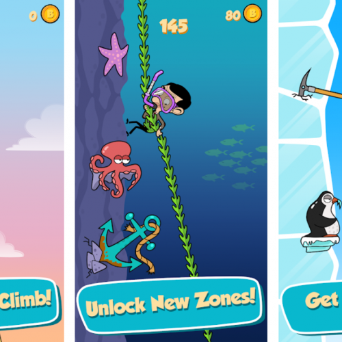 Stills from Mr Bean animated game