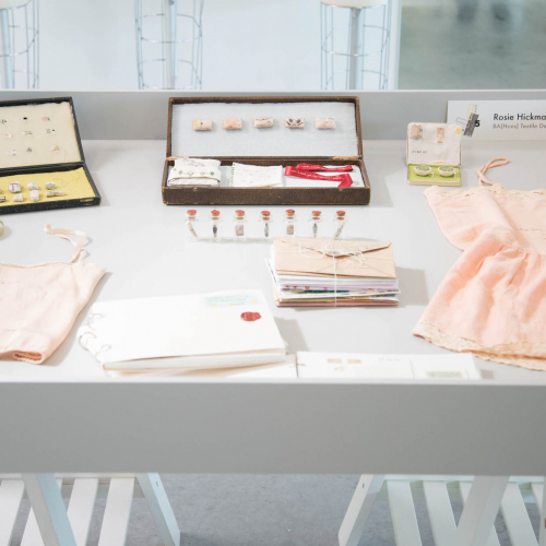 Display of fashion samples