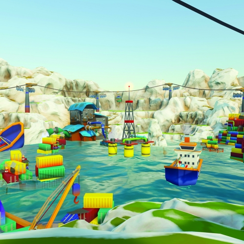 Harbour still from Karate Crab student game