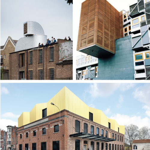 Three Architectural designs for buildings