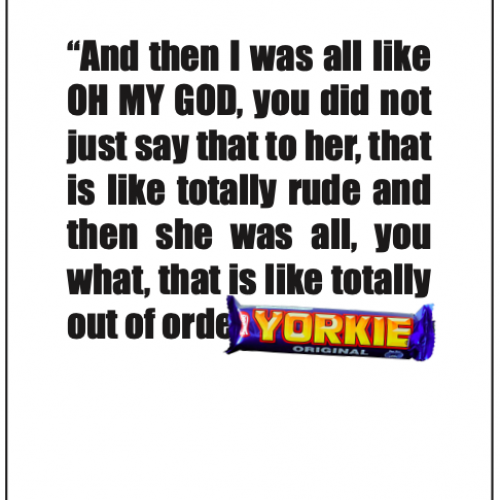 Yorkie advert with text