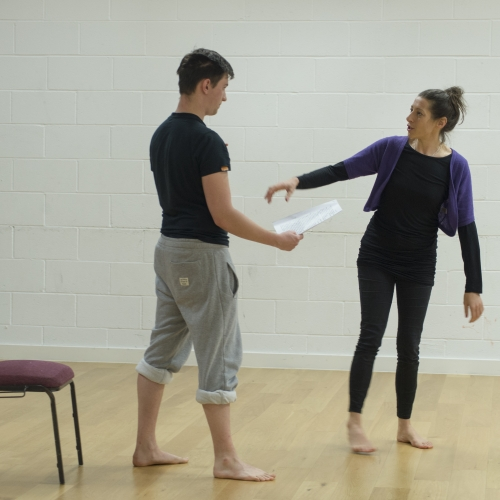 Students rehearsing