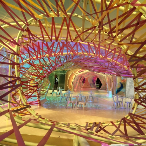 Swirling structure inside the Serpentine Pavillion