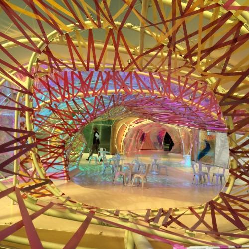 Swirling structure inside the Serpentine Pavillion