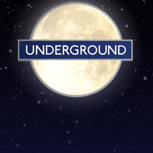 London underground logo as the moon