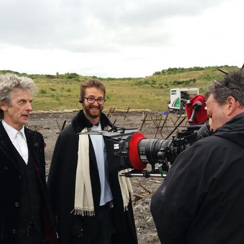 Film graduate Kieran Hayhow on the Dr Who set
